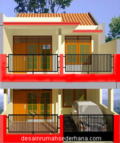 gambar desain lengkap untuk renovasi rumah kpr btn type 21